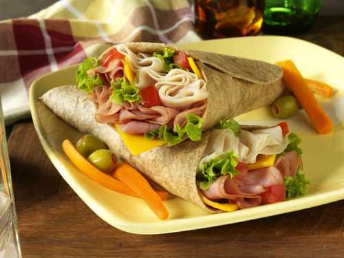 Ham And Turkey Wrap