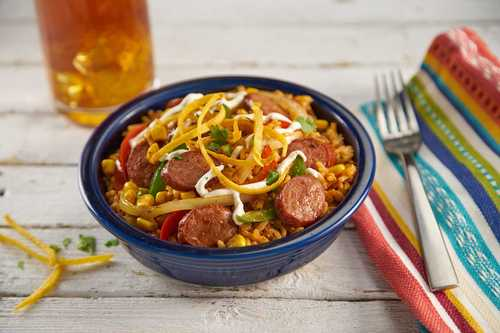 Chili-Lime Smoked Sausage Rice Bowl