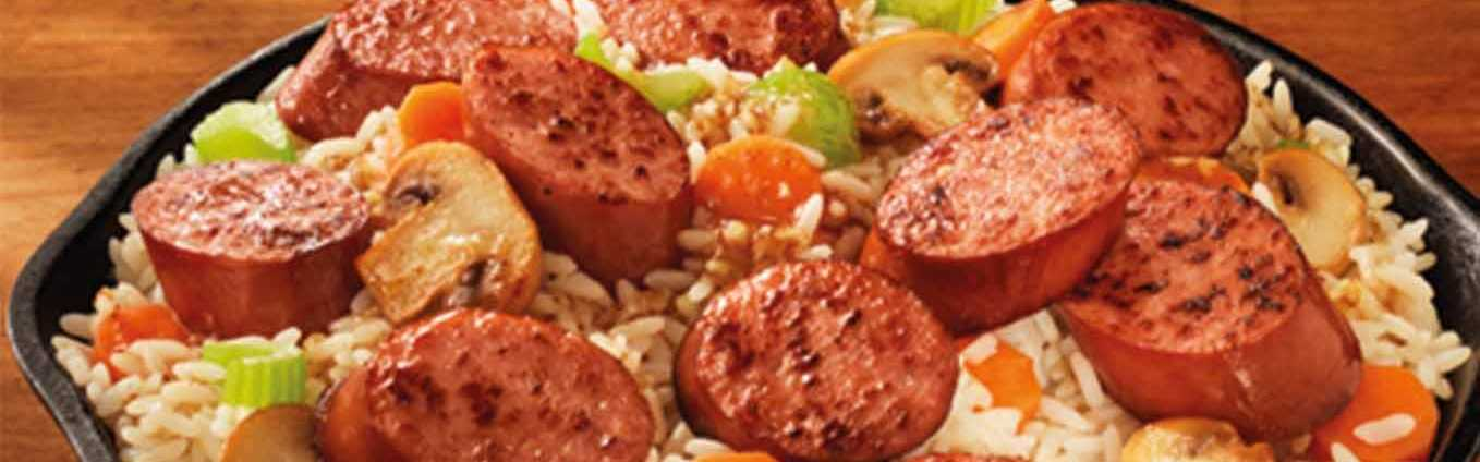 Honey Mustard Sausage and Vegetables