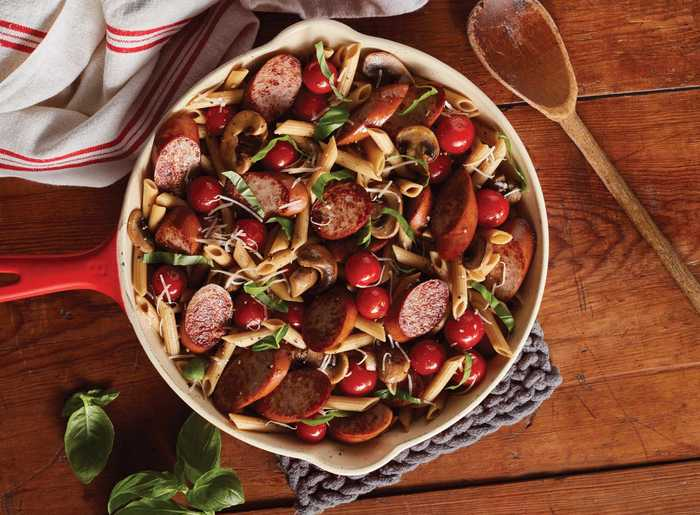 Smoked Sausage and Tomato Skillet with Hillshire Farm Naturals® Smoked Sausage