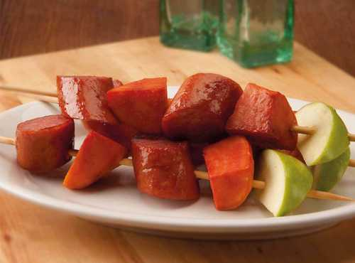Kielbasa and Sweet Potato Kabobs