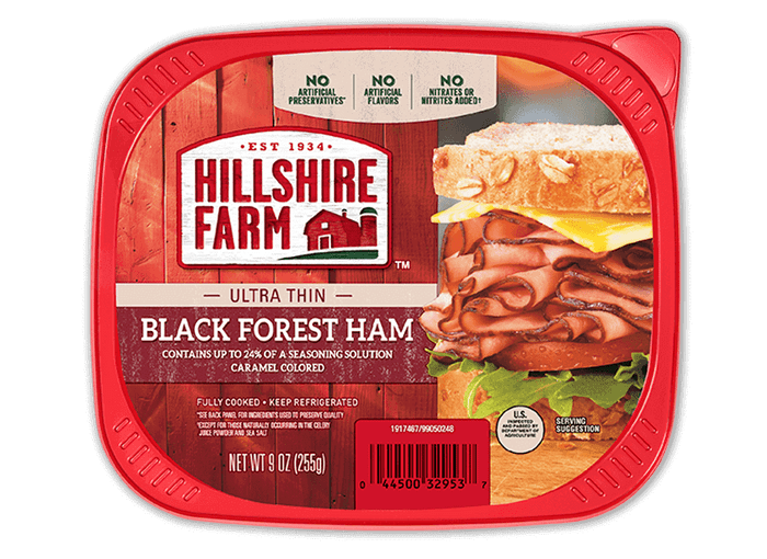 Ultra Thin Sliced Black Forest Ham Hillshire Farm Brand