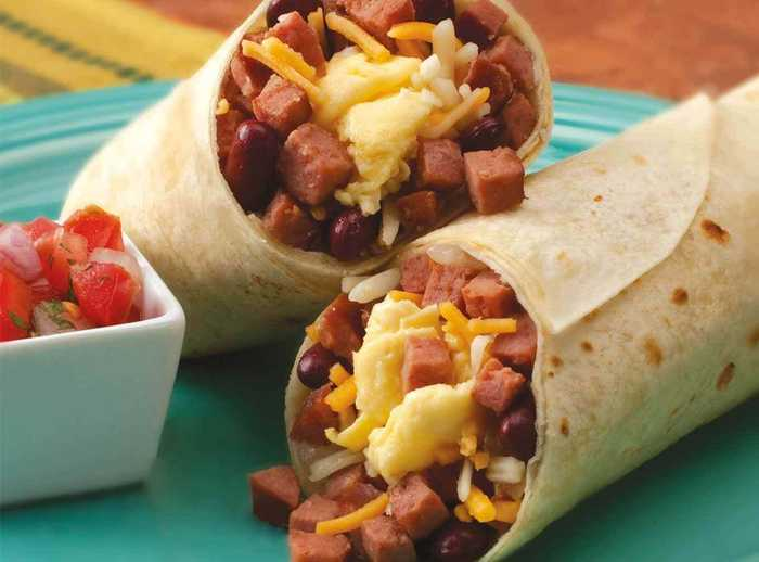 Spicy Sausage And Egg Wrap