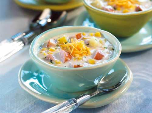 Corn Chowder With Smoked Sausage