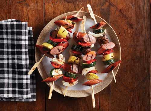 Smoked Sausage And Veggie Kabobs with Hillshire Farm Naturals® Smoked Sausage