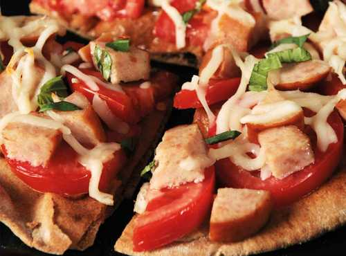 Chicken Margherita Pita Pizzas
