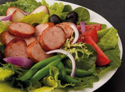 Salad Nicoise With Smoked Sausage