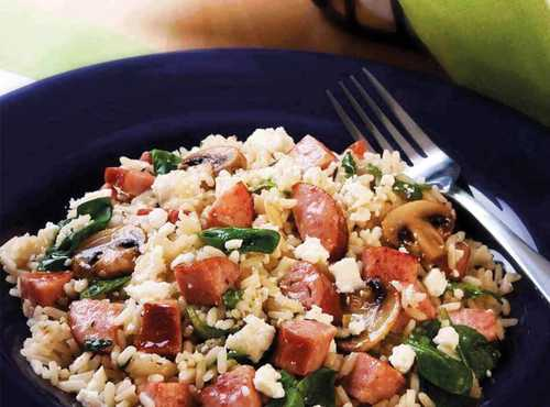 Mediterranean Rice with Smoked Sausage