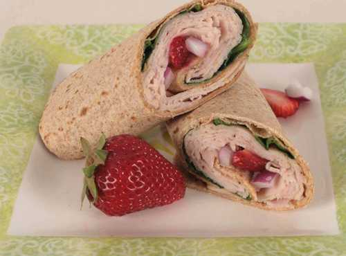Strawberry Lower Sodium Turkey Wrap