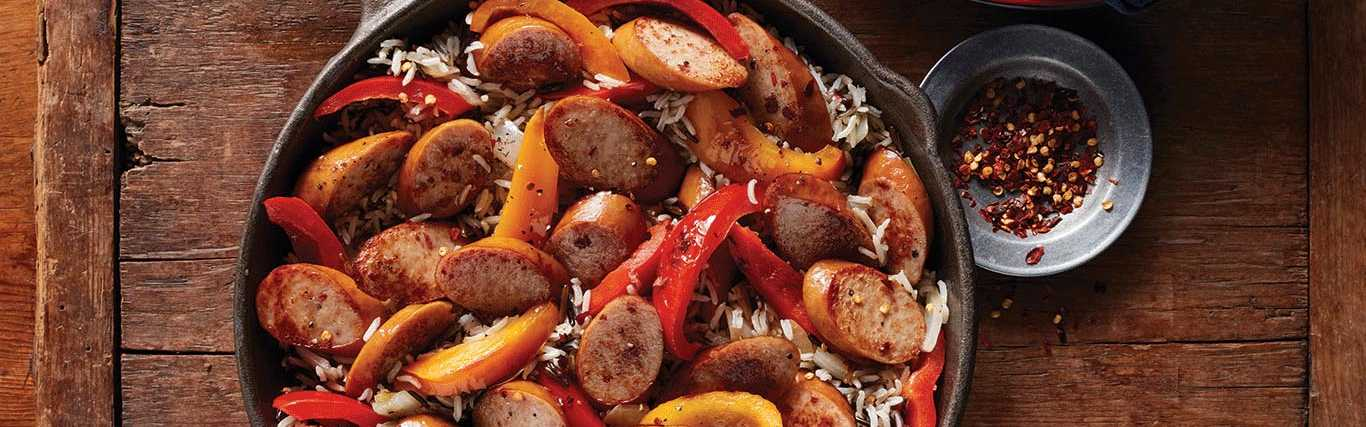 Smoked Sausage and Pepper Skillet