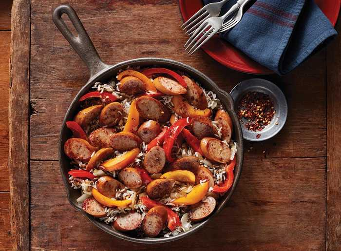 Smoked Sausage and Pepper Skillet with Hillshire Farm Naturals® Smoked Sausage