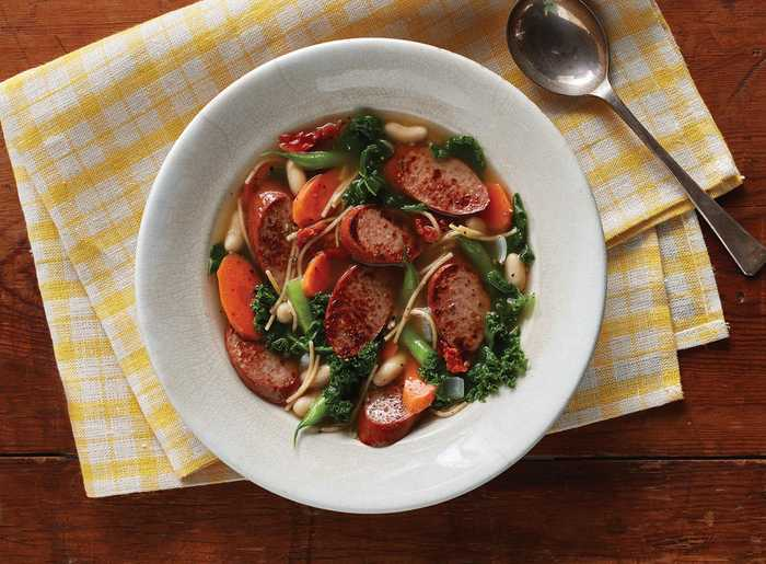 Smoked Sausage and Vegetable Soup with Hillshire Farm Naturals® Smoked Sausage