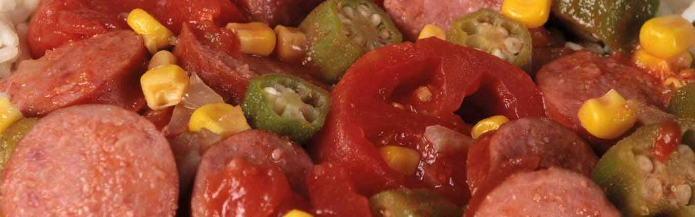 Southern Style Sausage Tomatoes And Okra