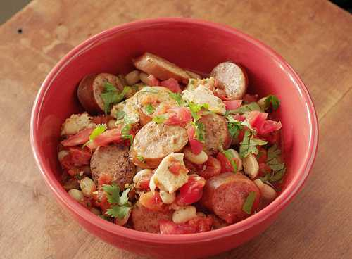 White Bean and Smoked Sausage Chili