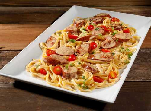 Smoked Sausage Alfredo with Hillshire Farm® Smoked Sausage